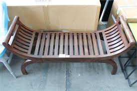 John Lewis Bench 1 X Boxed Maharani Solid Sheesham Curved Wooden Bench 9379 Rrp
