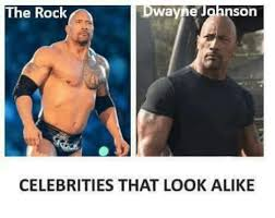 Rock Meme - jahnson the rock wayne celebrities that look alike the rock meme