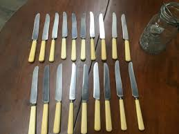 19 vintage knives with bone handles antiques vintage u0026 mid