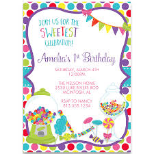 sweet candy birthday party invitation u2013 the invite lady