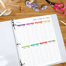 spending record printable spending tracker budgeting
