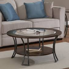 Overstock Round Coffee Table - amazon com metro shop carlisle walnut charcoal grey round coffee