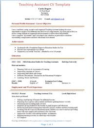 cv templates for teaching assistants exles of teacher assistant resumes exles of resumes