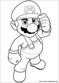 super mario bros coloring picture scrapbook imprimir byn