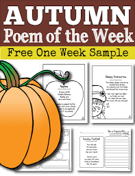 Acrostic Poem For Halloween Poem Of The Week For The Whole Year For Kindergarten First