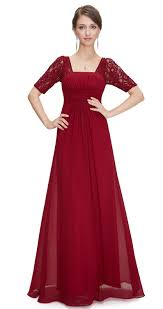 penny cranberry berry red chiffon lace sleeve dress www eloises