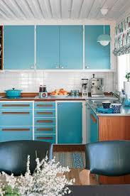 küche retro retro küche blau leuchter schrank idee wohnungseinrichtung