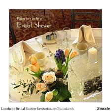 Formal Table Setting Luncheon Bridal Shower Invitation A Formal Table Setting In Pale