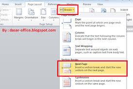 cara membuat nomor halaman yang berbeda di word 2013 cara membuat nomor halaman di setiap awal bab berbeda pada ms word