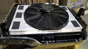 electric radiator fans and shrouds 1936 plymouth streetrod custom radiator with electric fan shroud