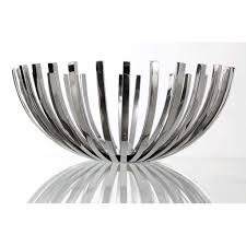 metal fruit basket stainless steel fruit repeat bowl in medium from edge company