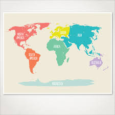 World Map Posters by World Map Kids Nursery Room Decor Baby Nursery Art Playroom