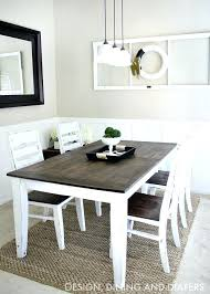 two toned dining table u2013 rhawker design