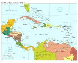 Blank Central America And Caribbean Map by Maps Of Central America And The Caribbean Central America And The