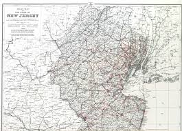 New England Road Map by New Jersey Historical Maps