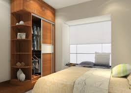 bedroom modern reach in closet design with white folded door and