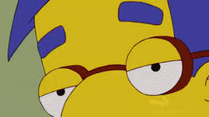 Millhouse Meme - milhouse simpsons gif milhouse simpsons eyebrows discover