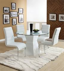 White Dining Room Furniture Sets Best White Leather Dining Room Set Images Liltigertoo