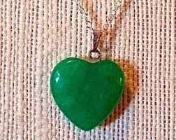 green heart pendant necklace images Jade heart pendant etsy jpg
