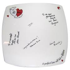 anniversary plates personalised a ruby anniversary message plate