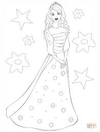 beautiful barbie coloring free printable coloring pages