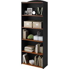 Narrow Bookcase by Mainstays 5 Shelf Bookcase Multiple Colors Walmart Com