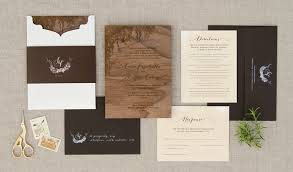 custom invitations handmade organic wedding invitation using skin overlay