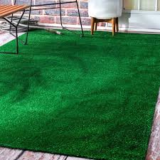 Overstock Rugs Outdoor Nuloom Artificial Grass Outdoor Lawn Turf Green Patio Rug 8 U0027 X 10