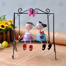 aliexpress com buy couples iron crafts home bedroom cute doll