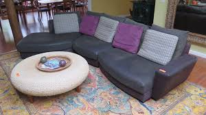 sofa sectional u2013 ultrasuede roche bobois u201cbeach bay u201d green w