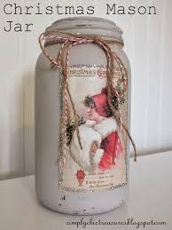 simply chic treasures christmas mason jar vase