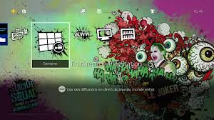 ps4 themes harley quinn ps4 theme suicide squad youtube