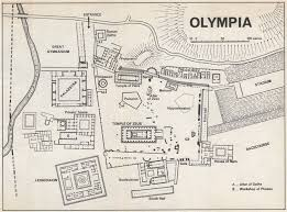 ancient greece floor plan ancient olympia vintage ground plan greece 1967 vintage map