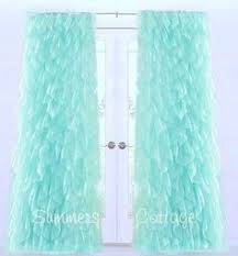 Sheer Ruffled Curtains These Sheer Voile Curtains Display An Extravagance Of Ruffles For