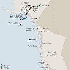 Alaska Ferry Map by Alaska Cruise Tour W Denali Kenai Fjords Aug 23 Sept 4 2016