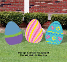 Wooden Hanging Easter Decorations by Diy Large Easter Eggs Woodcraft Pattern Set Would Be Cute With