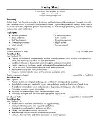 examples of customer service resumes 11 amazing automotive resume examples livecareer retail parts pro resume example