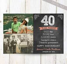 40th wedding anniversary gifts for parents the 25 best 40th anniversary gifts ideas on 40th