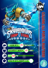 skylanders trap team birthday invitation kustom kreations