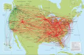 Flight Routes Map by Other Ways To Get Here Naturally Superior Adventures