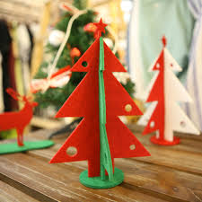 Mini Wooden Christmas Tree Decorations by Aliexpress Com Buy 2pcs Mini Wooden Christmas Tree With 16 Small