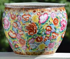 Chinese Hand Painted Porcelain Vases Large Chinese Porcelain Famille Rose Fish Bowl Jardiniere Hand