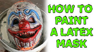 how to painting a latex mask youtube