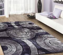 Grey Shaggy Rugs Shag Rug Modern Design 110