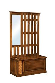 amish rustic mission tree bench with storage foyer bench