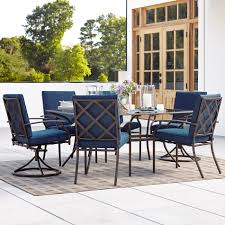 outdoor patio table seats 10 7 piece patio dining set with swivel chairs baka 233