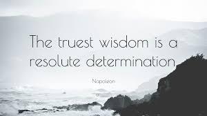 determination quote pics napoleon quote u201cthe truest wisdom is a resolute determination