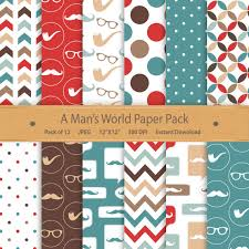 mustache wrapping paper gentleman digital paper paper fathers day mustache