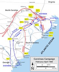 Ncsu Map Map Of Carolinas Campaign Civil War Era Nc