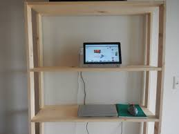 Adjustable Standing Desk Diy Furniture Build Your Own Adjustable Standing Desk Small Standing